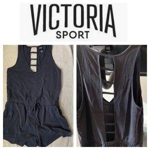 EUC Victoria's Secret SPORT Soft Romper Medium